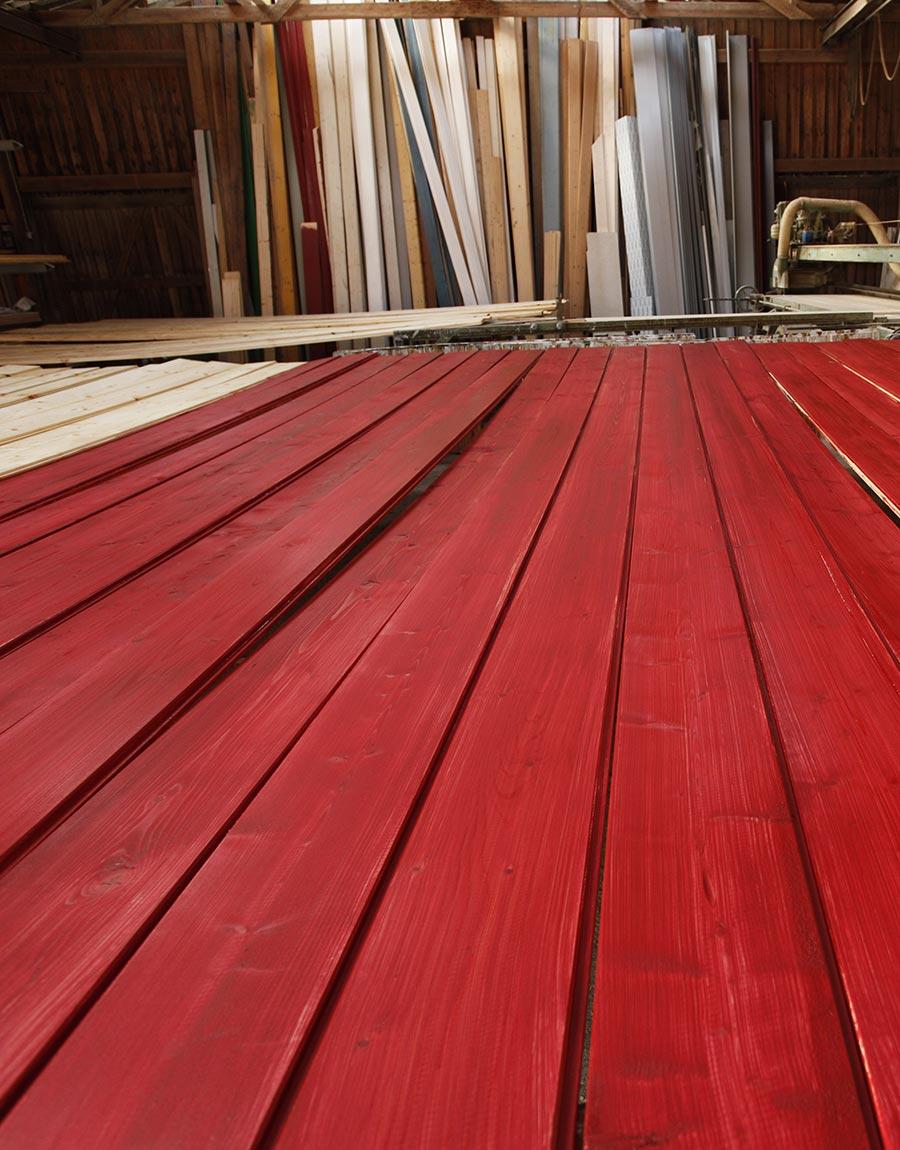 Holzhaus rot