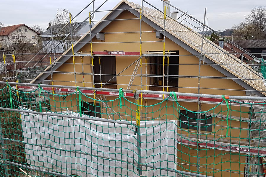 Doppelhaus in Holzständerbauweise in Gelting